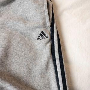 Adidas Grey 3 Stripe Track Pants - Sz Medium